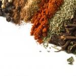 Spices over white