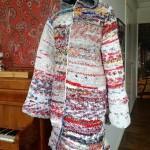 Leipäpusseista virkattu takki