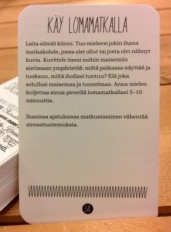 Stressinhallintakorteissa hyödynnetään mm. kohtaa 1 ja 3. Osta kortit täältä: hidastaelamaa.fi/puoti/