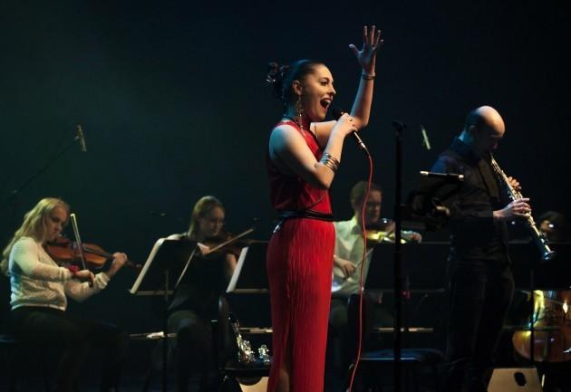 Maija Linkola, Laura Airola, Elena Mindru, Atte Kilpeläinen, ja Samuli Peltonen. Kuva: Marko Kirsi & April Jazz