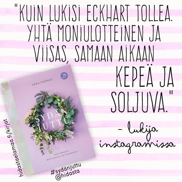 Asiakaspalaute Sydänjuttu-kirjasta.