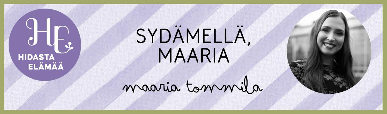 Maaria Tommila Hidasta elämää blogitunniste